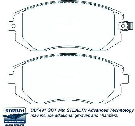 Online sale Honda Prelude Front and Rear Brake pads DB1206-DB1265