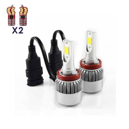best price H9 50W LED Headlight Conversion Kit 6000K 7600LM Bright White