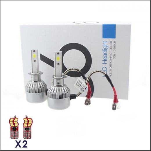 best price H1 50W LED Headlight Conversion Kit 6000K 7600LM Bright White