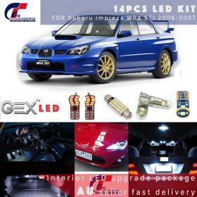 best price Auto Xenon White SMD Led Interior Light Upgrade Kit For Subaru Impreza WRX 06-07