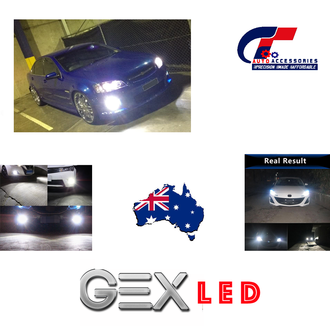 Plug play low beam fog light led conversion kit holden for Garage nissan gex