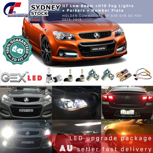 best buy holden VF led lights coversion H7 low H10 parkers plates