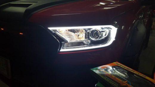 best price led daytime DRL headlight cover Ford ranger