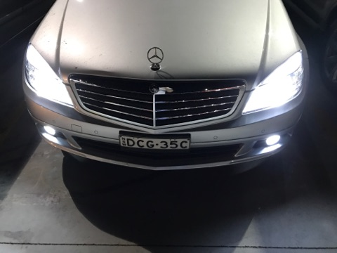 Online sale Mercedes W204 07-14 Low Beam Fog Lights Interior Error Free LED