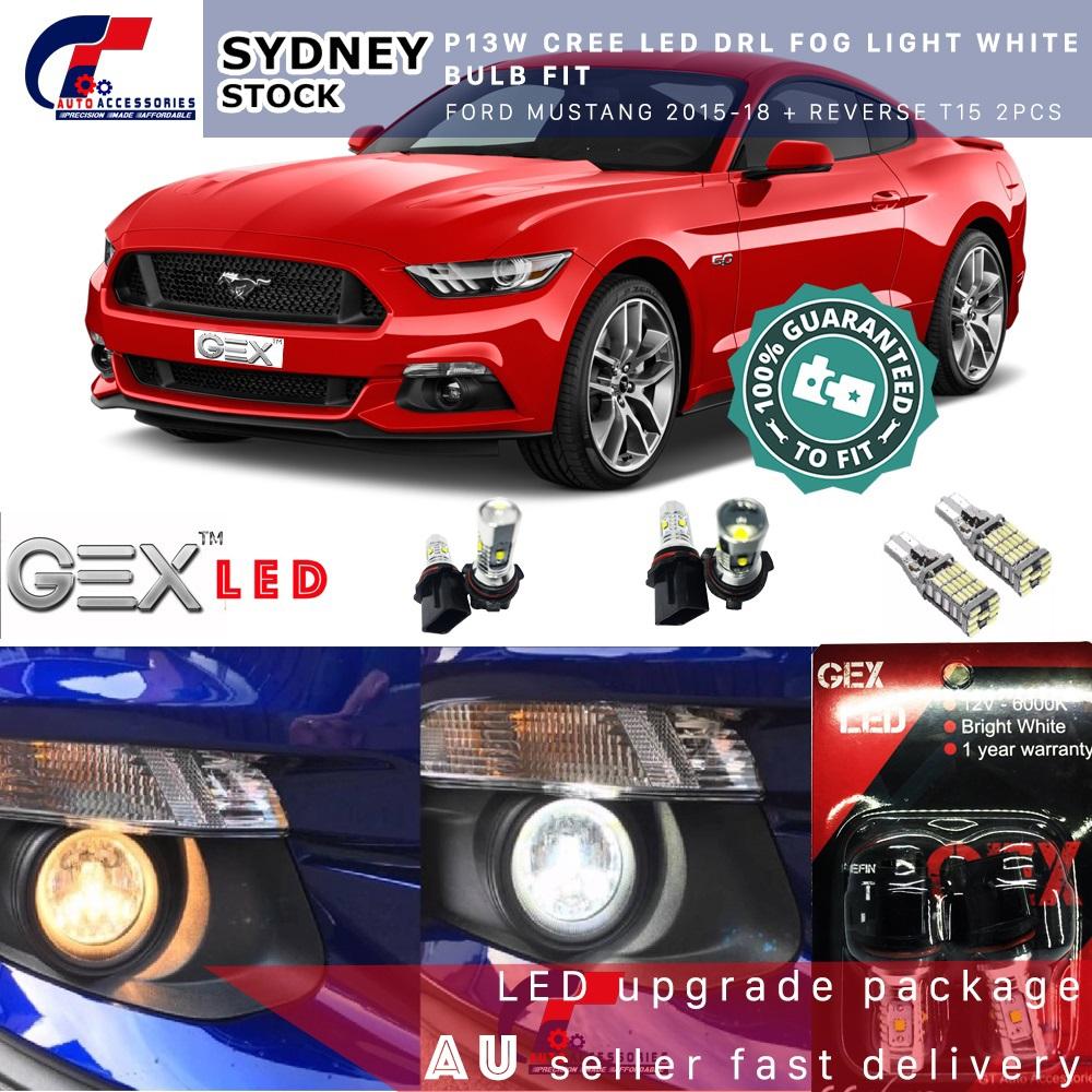 New P13w Led Drl Fog Light White Bulb For Ford Mustang 2015
