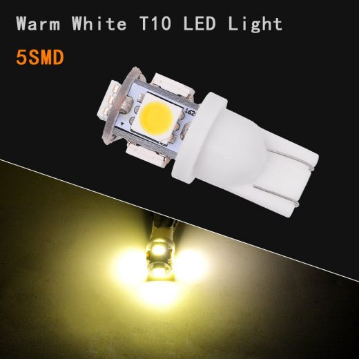 On sale warm white SMD T10 led bulbs fits parkers interior lights