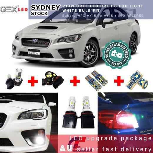 best price MY15 + WRX Sti LED T10 Parkers P13W DRL H8 Foglights T15 Kit