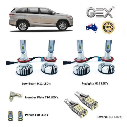 best price Toyota Kluger GX GXL Grande Gex LED Low Beam Fog Reverse Kit