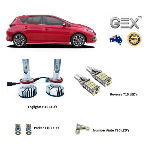 best price Toyota ZR Corolla Hatchback Gex LED H16 Foglights Reverse Parker Kit