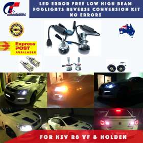 Holden VF LED Error Free Low High Beam Foglights Kit