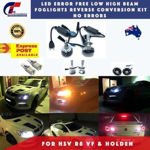 Holden VF LED Error Free Low High Beam Foglights Kit