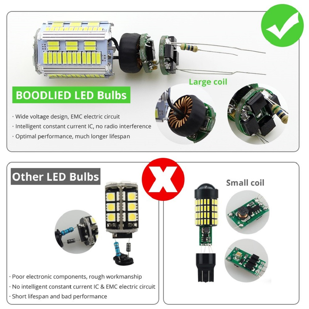 T20 7440 105 Led White Car Brake Stop Tail Light Electric Circuit Bulb Best