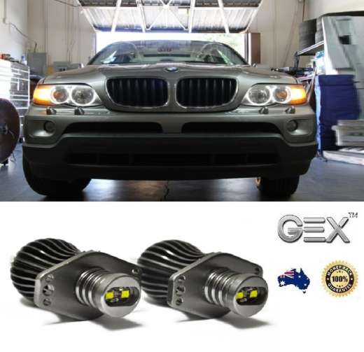 best price BMW X5 Halogen X5 80W CREE LED Angel Eye Halo Ring Bulbs Lights