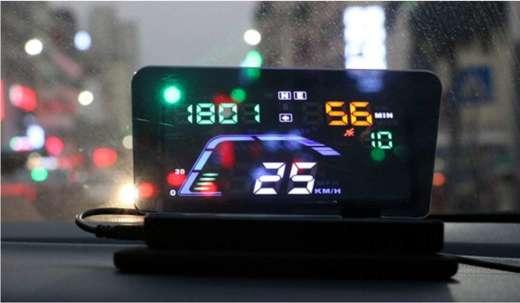 best price digital car GPS hud head up display plug n play speedometer