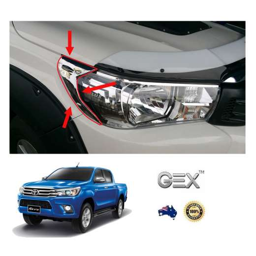 best price Toyota Hilux N80 2015-2018 Headlights Trim Custom Chrome Upgrade