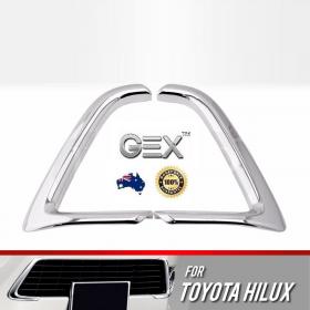 best price Toyota Hilux N80 2015-2018 Bumper Grille Trim Chrome Custom Upgrade