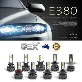 best price New Tri Color Headlight 3000K 4300K 6000K LED Conversion Kit Bulbs