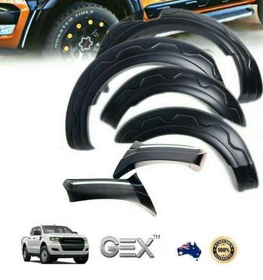 Ford Ranger PX 2 3 2015-2019 LED Fender Flares Wheel Arches Guard
