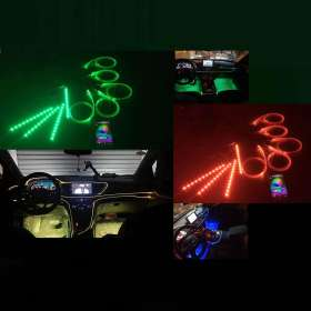 LED Interior RGB LED Strip Lights App Controlled Atmosphere Wedge Bar